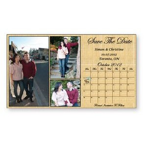 ".020 Magnet - Save The Date Cards 4"" x 7"" 4CP at 175 lpi & varnish"