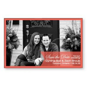 ".020 Magnet - Save The Date Cards 3.5"" x 5.5"" 4CP at 175 lpi & varnish"