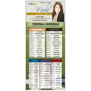 "14 Pts White Card Stock Magnetic Calendar, (4""x9""), Full Colour both sides"