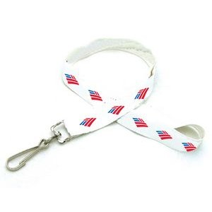 "3/8"" Digitally Sublimated Recycled Lanyard w/ Double Standard Attachment"